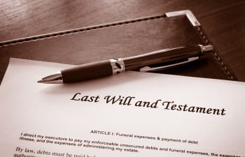 Last Will and Testament Document Augusta, GA